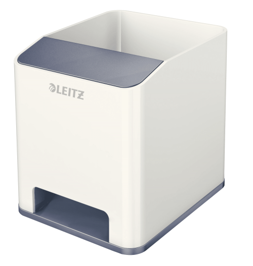 Leitz WOW Duo Colour Sound Pen Holder White 53631001 (PK1)