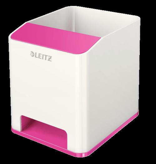 Leitz WOW Duo Colour Sound Pen Holder Pink 536310023 (PK1)