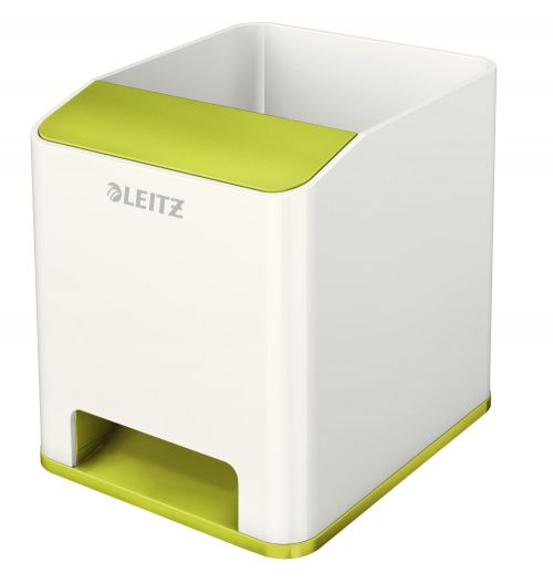 Leitz WOW Duo Colour Sound Pen Holder Green 53631064 (PK1)