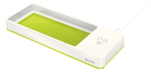 Leitz WOW Desk Organiser with Charger Green 53651064 (PK1)
