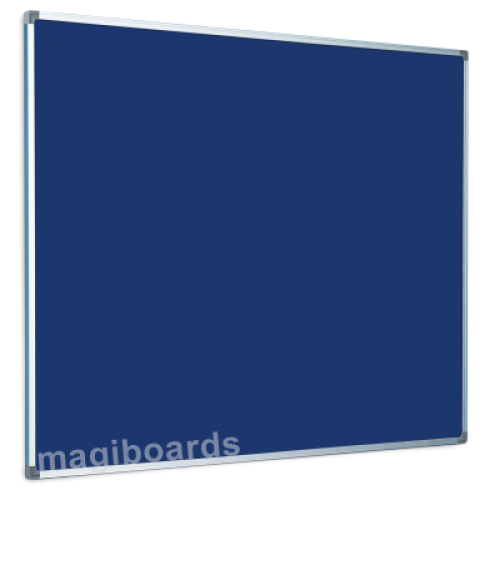 Magiboards Slim Frame Felt Noticeboard Blue 1500x1200mm