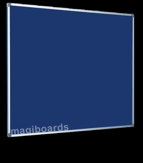 Magiboards Slim Frame Felt Noticeboard Blue 1800x1200mm