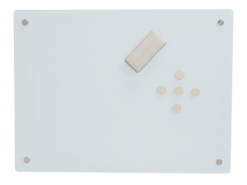 Magiboards Magnetic Glass Writing Board 600x450mm White