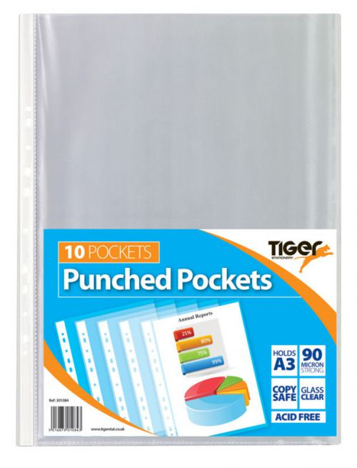Tiger A3 Punched Pockets Portrait PK10