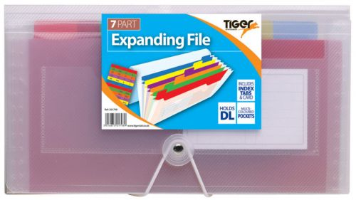 Tiger DL 7 Part Rainbow Expanding File