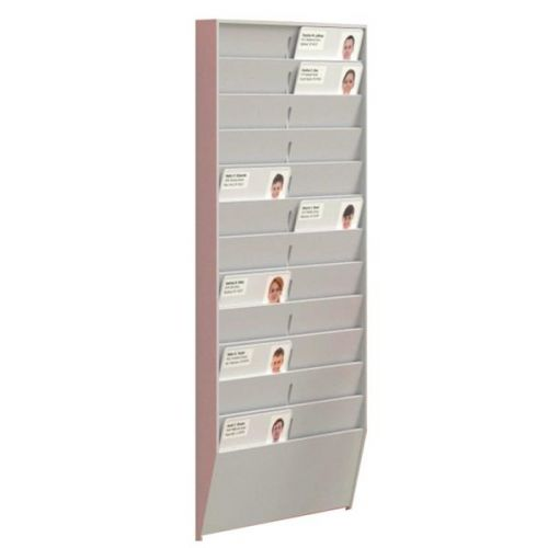 Fast Paper 24 Compartment ID Badge Rack Grey