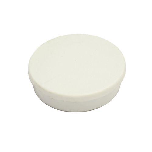 Bi-Office Round Magnets 10mm White PK10