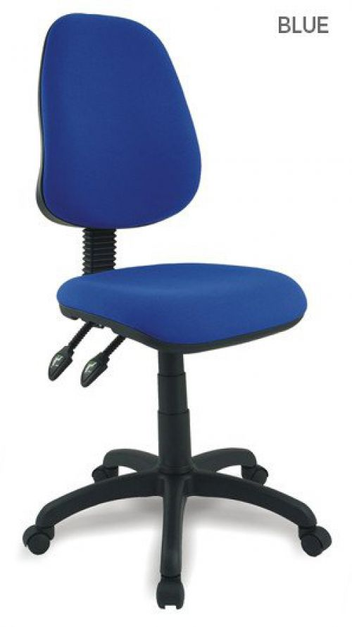 Java 200 High Back Operator Chair With Arms Blue