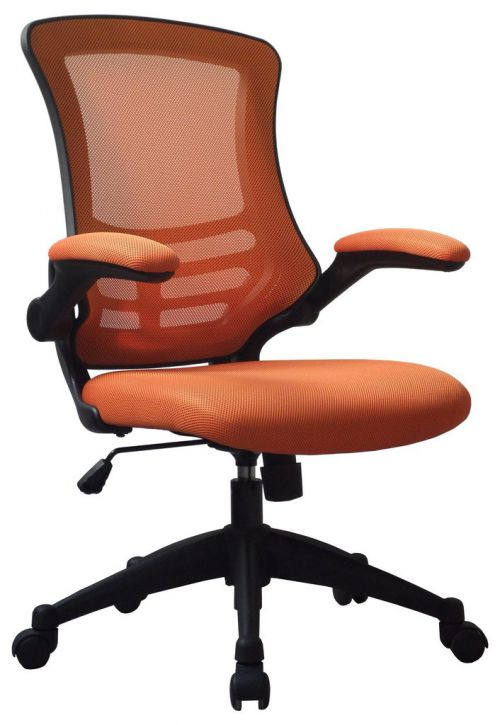 Luna Medium Back Mesh Chair Orange