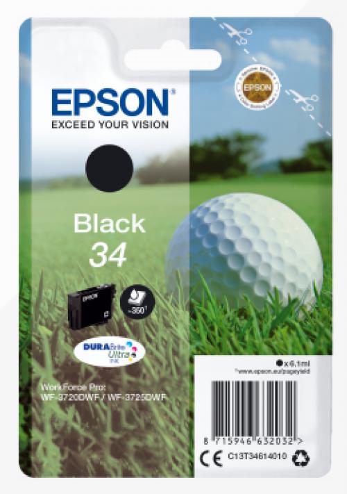 Epson C13T34614012 34 Black Ink 6ml