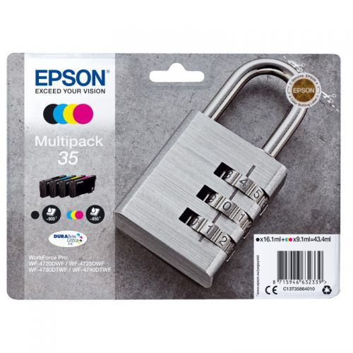 Epson C13T35864010 35 Black Colour Ink 16ml 3x9ml Multipack