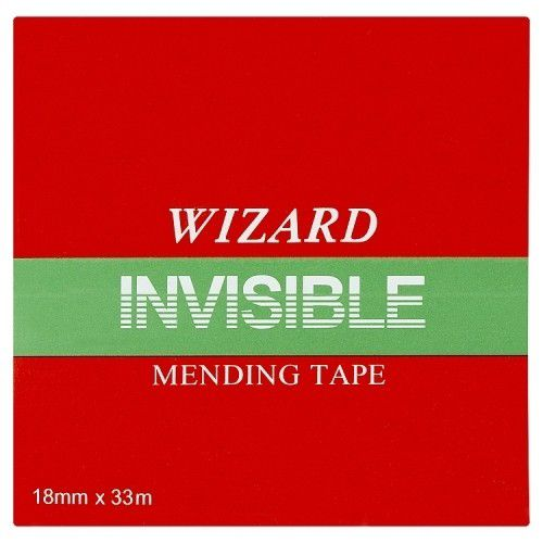 Value Wizard Clear Invisable Tape 19mm X 33m PK8