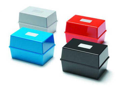 Value Deflecto Card Index Box 5x3 Black