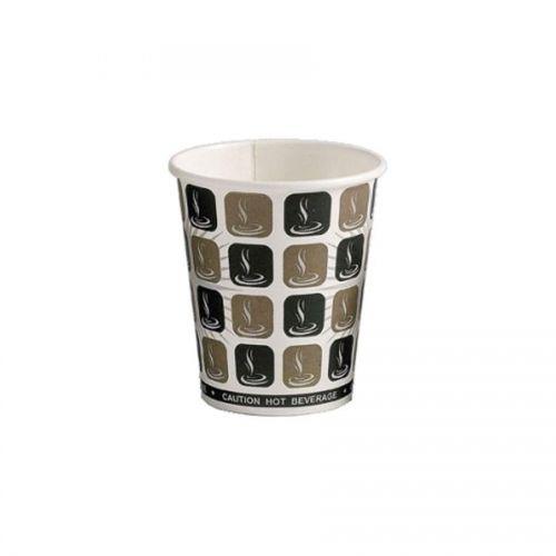 Value 8oz Cafe Mocha Hot Drink Cup PK50