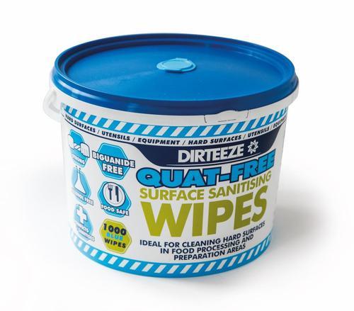 Value Dirteeze Multi Purpose Antibacterial Wipes Tub 1000