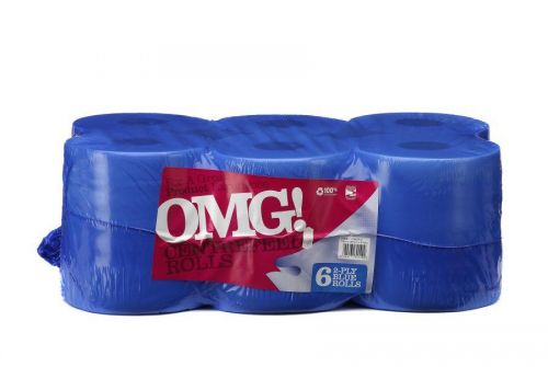 OMG 2ply Centrefeed Roll Blue 105m (Pack 6)