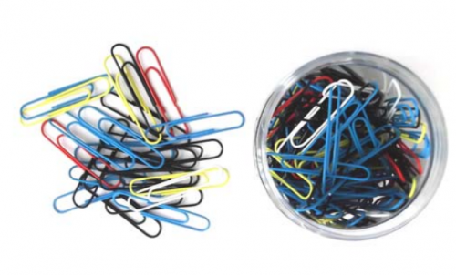 Value 51mm Giant Paperclips Assorted Colour PK125
