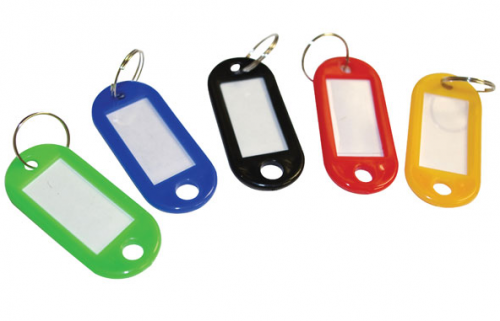Value Sliding Key Tags Assorted Colours Large PK50