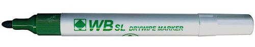 Value Drywipe Marker Bullet Tip Green PK10
