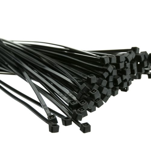 Cable Ties 300mmx 4.8mm Black  PK100