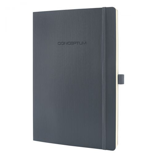 Sigel CONCEPTUM Notebook Softcover Lined 187x270x14mm D Grey