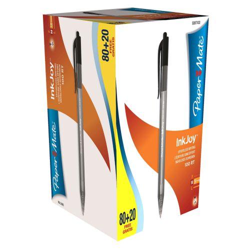 Paper Mate InkJoy 100 Retractable Medium Tip Black PK80plus20