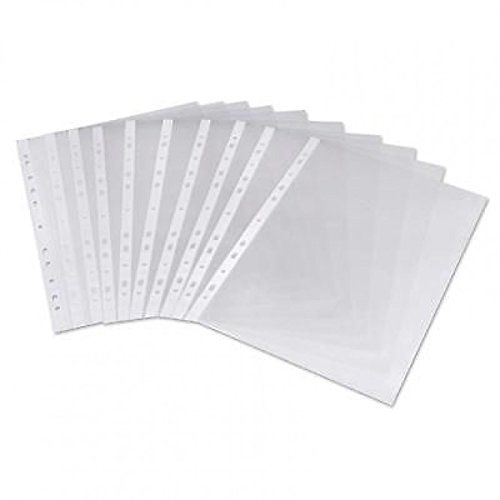 Value Punched Pockets A4 Medium Weight Glass Clear PK100