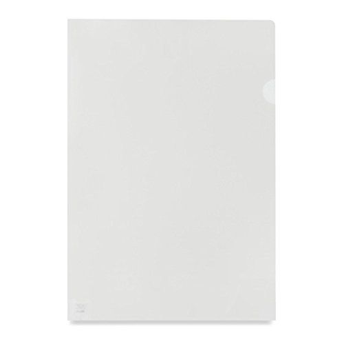 Value Cut Flush Folder Clear A4 Orange Peel Med Weight PK100