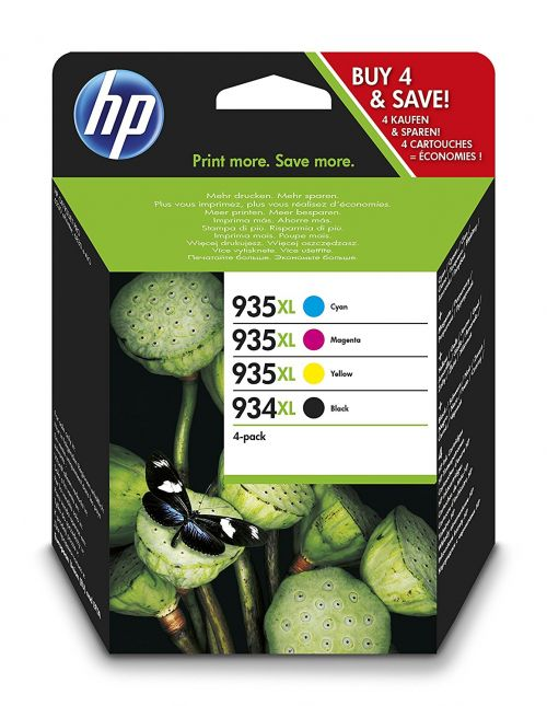 HP X4E14AE 934XL 935 Black Tricolour Ink 25.5ml 9.5ml Twin