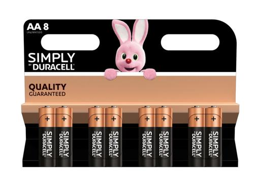 Duracell AA SIMPLY Batteries PK8