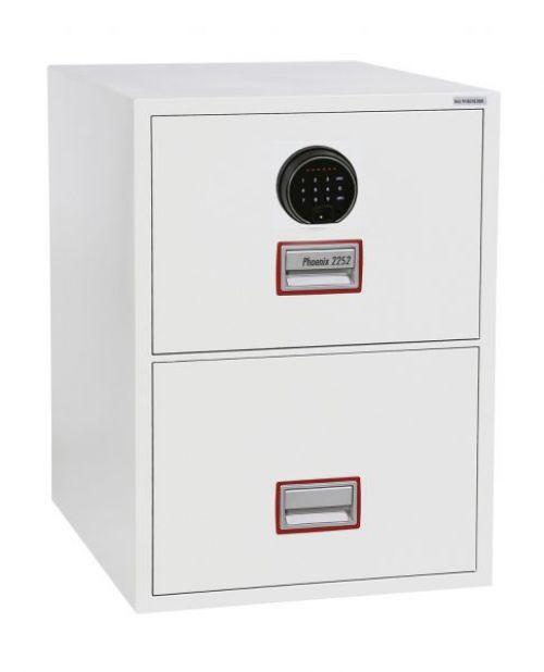 Phoenix Vertical Fire File 2 drwr Filing cbnt Fngr Lock