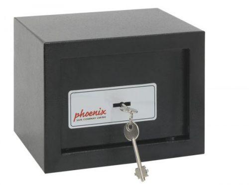 Phoenix Compact Home Office Security Safe Key Lock Black
