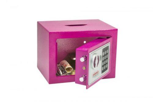 Phoenix cmpct Home Safe Electrnic Lock & dposit Slot Pink