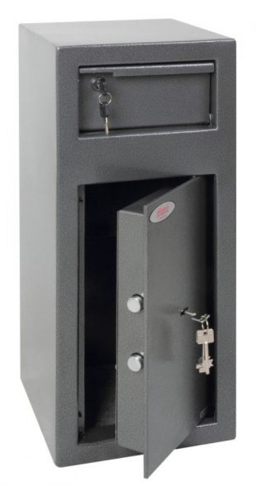 Phoenix Cashier Day Deposit Safe Grey