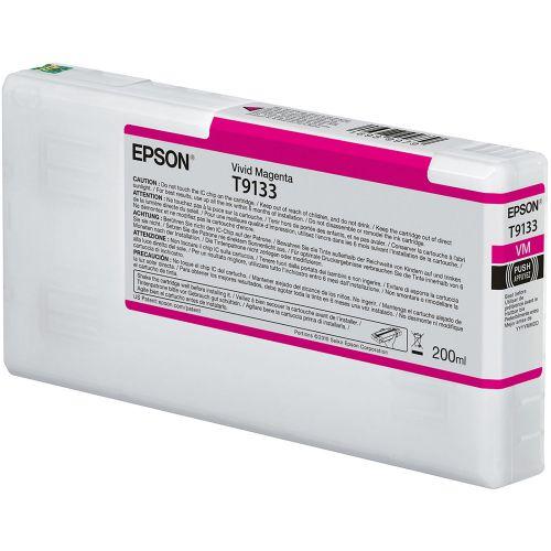 Epson C13T913300 T9133 Vivid Magenta Ink 200ml