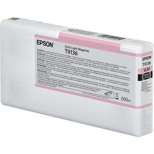 Epson C13T913600 T9136 Vivid Light Magenta Ink 200ml