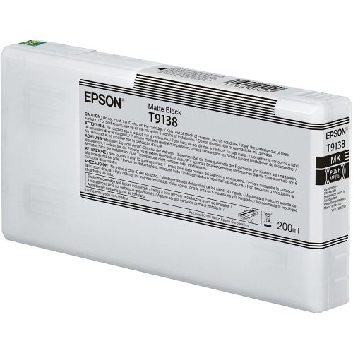 Epson C13T913800 T9138 Matte Black Ink 200ml