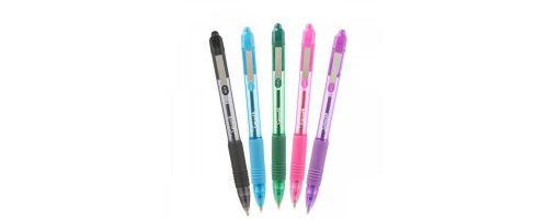Zebra Z-Grip Smooth Rectractable Ballpoint Pen 1.0mm Tip Black/Light Blue/Green/Pink/Violet (Pack 5)