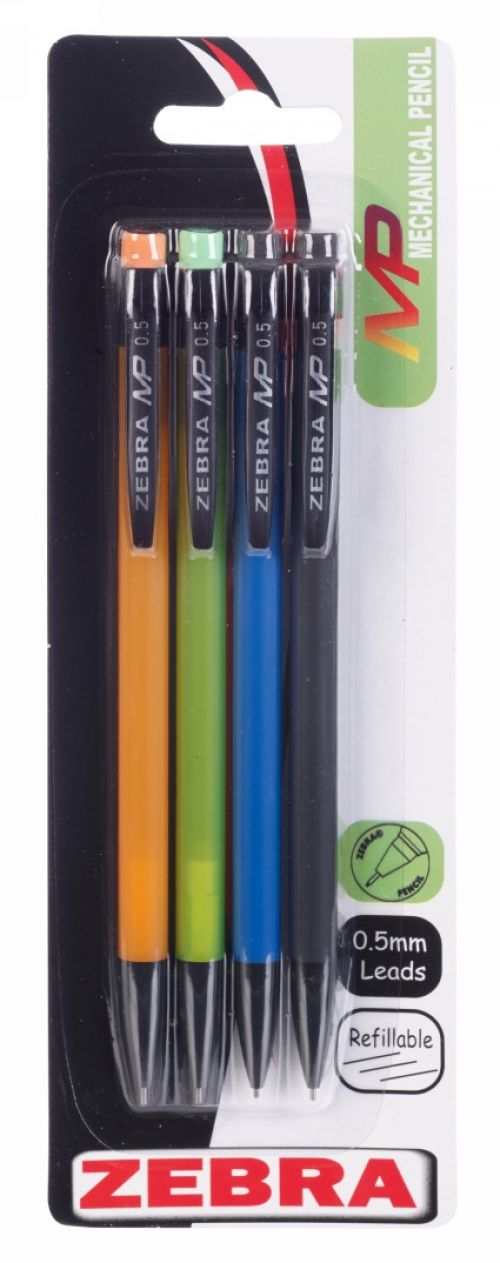 Zebra Mechanical Pencil Multicolour PK4