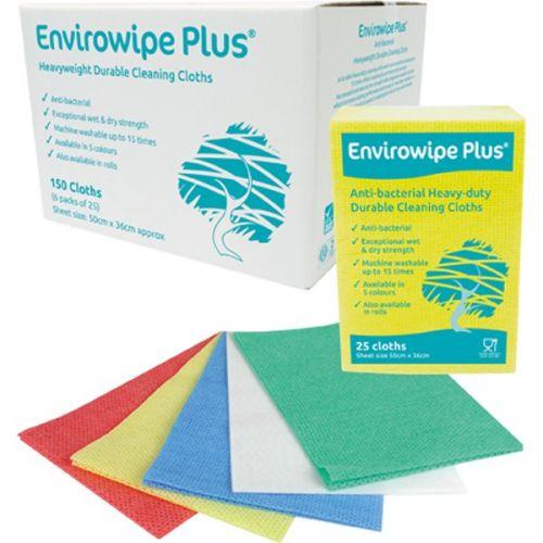 Envirowipe Plus Heavy-Duty Cleaning Cloths (50x36) Yllw PK25
