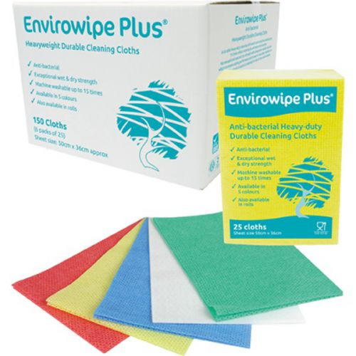 Envirowipe Plus Heavy-Duty Cleaning Cloths (50x36) Grn PK25