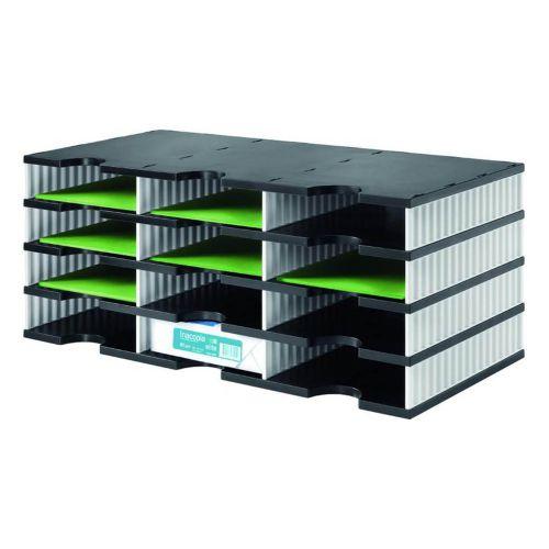 Styrodoc Trio Base Unit  12 Compartments BK Base WH Sides