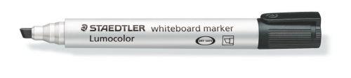 Staedtler Whiteboard Marker Black Chisel PK10