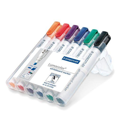 Staedtler Whiteboard Marker Assorted Chisel Tip PK6