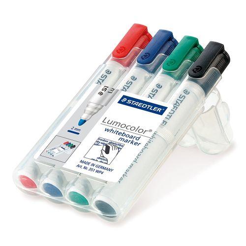 Staedtler Whiteboard Marker Assorted Chisel Tip PK4