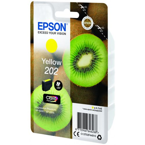 Epson C13T02F44010 202 Yellow Ink 4ml