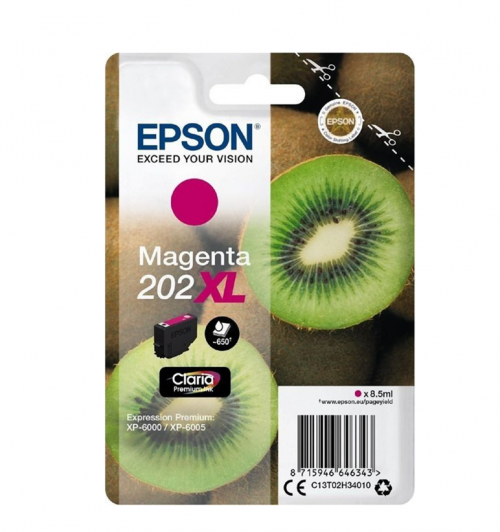 Epson C13T02H34010 202XL Magenta Ink 8.5ml
