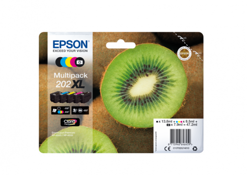 Epson C13T02G74010 202XL Black Photo Colour Ink Multipack