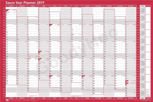 Sasco 2019 Year Planner Vertical Unmounted