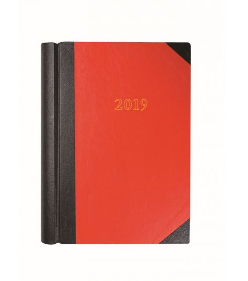 Collins A4 Desk Diary 2 Pages to Day 2019 Red